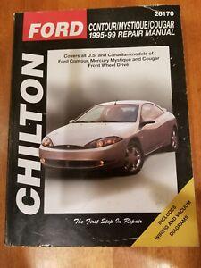 chilton ford contour mystique cougar 1995 1999 repair shop manual rh ebay com 1999 Mercury Cougar Shop Manual 1999 Cougar Owners Manual PDF