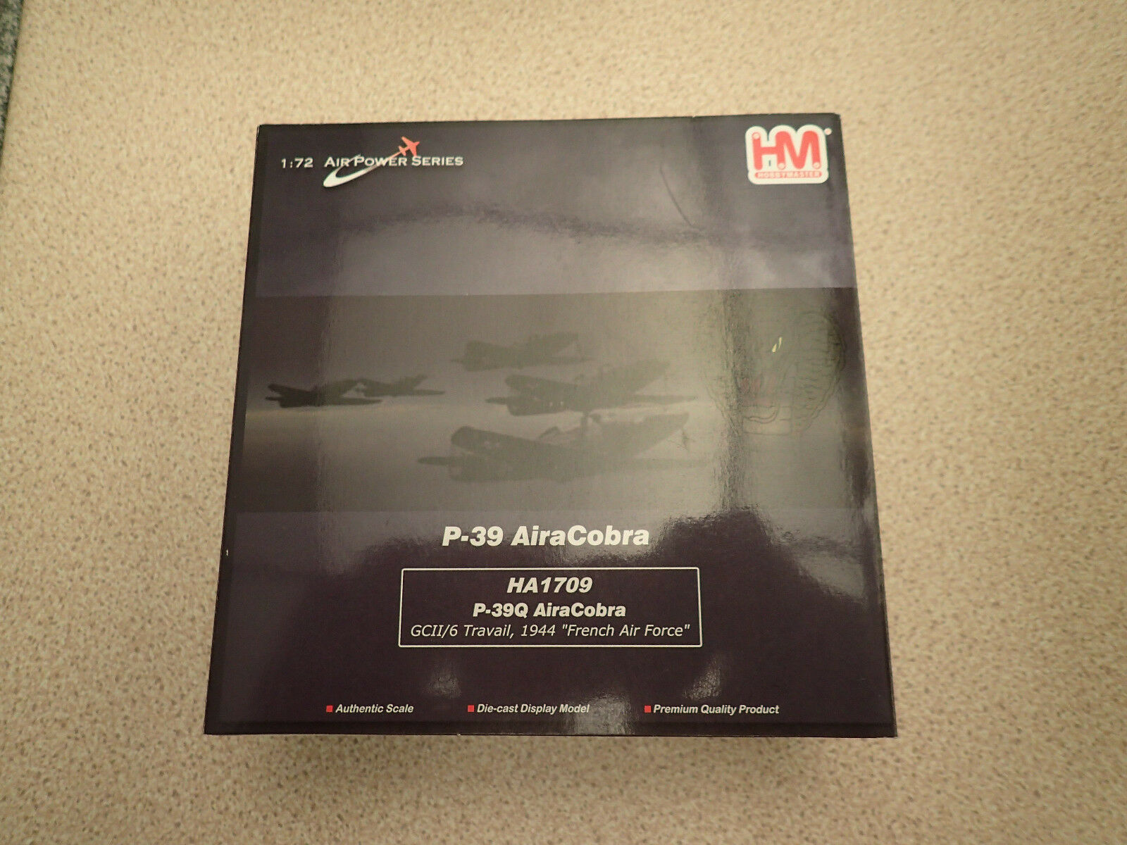 Hobby Master HA1709 P-39Q AiraCobra French Air Force 1944, Untouched