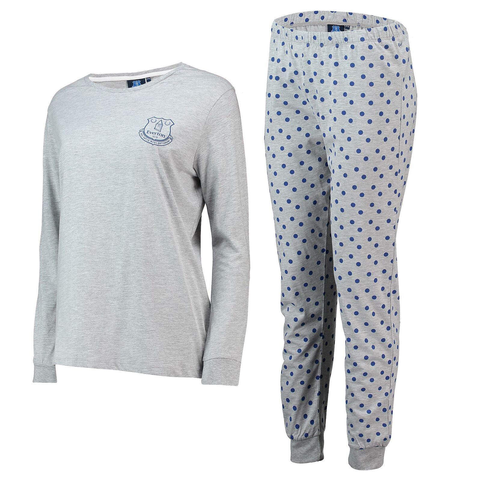 Egreenon Sweat and Jogger Lounge Set PJ Nightwear Football Grey Marl Womens