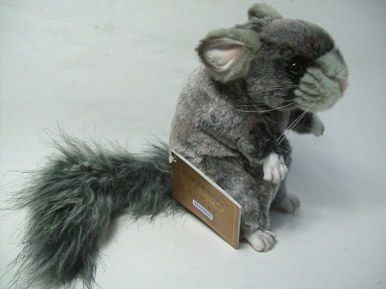 Stofftiere 1 Chinchilla 5490 Hansa Toy Eichhörnchen 18 Plüschtier Stofftier