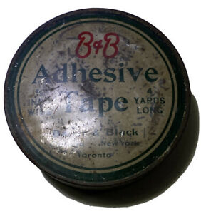 Vintage B & B Adhesive Tape Tin Country Store Medicine Supply