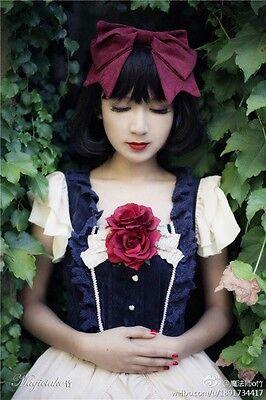 lolita fairy Princess diary Snow white EX dolly BOW headband JI6012