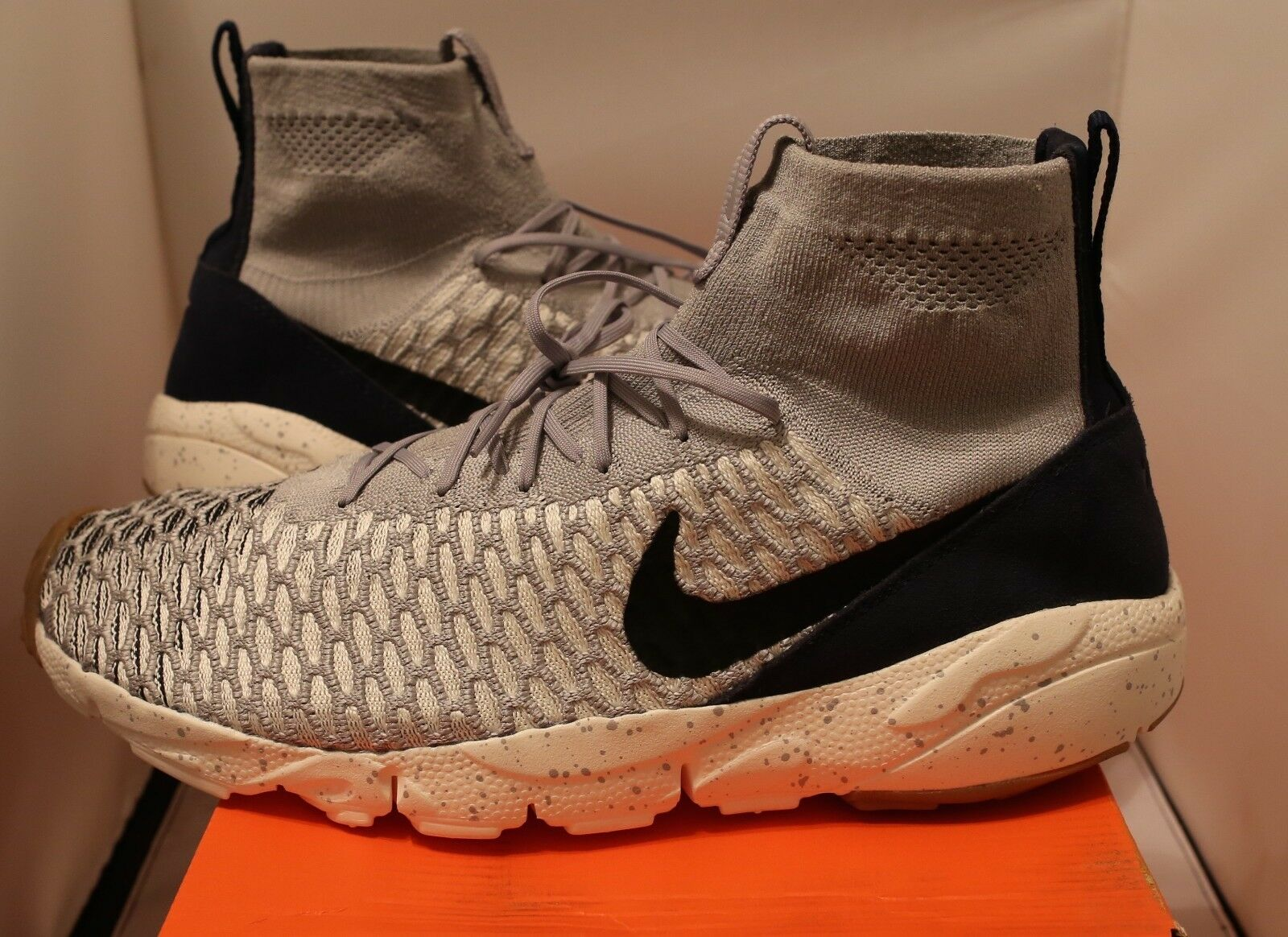 New Nike Air Footscape Magista Flyknit Wolf Grey Obsidian 816560 001 Size 12.5