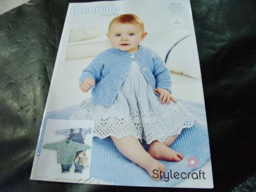 Stylecraft Double Knitting Pattern 9500 Sweater and Cardigan 14//16-22//24 in