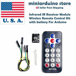 Infrared-IR-Receiver-Module-Wireless-Remote-Control-Kit-with-Battery-For-Arduino