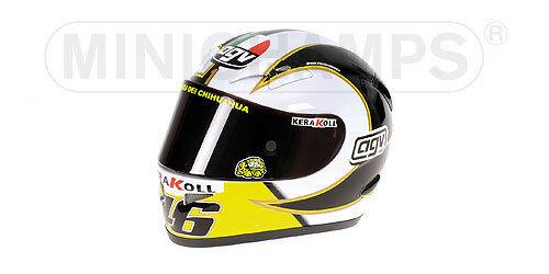 Helmet AGV Valentino Rossi MotoGP 2018 1:2 Replica 327060046 MINICHAMPS