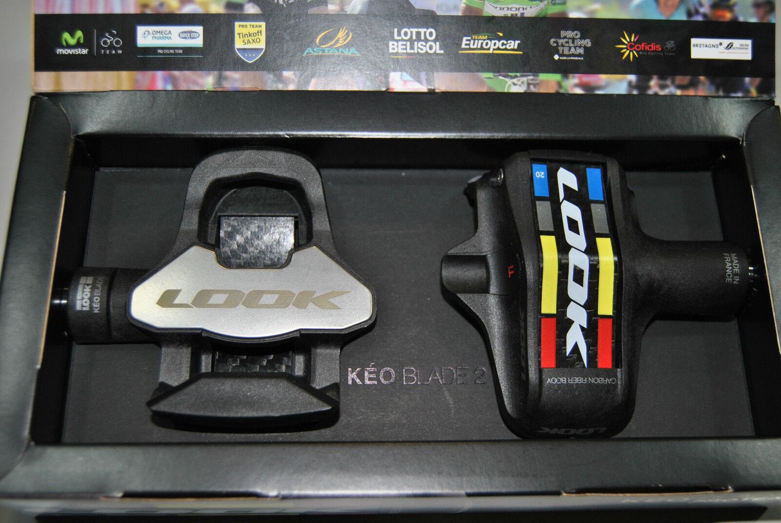 Pedale Rennen Look Keo Blade 2 Proteam Ti Klampe