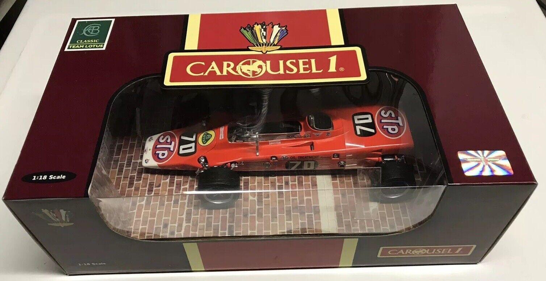 Carousel 1 Graham Hill STP Lotus 56 1968 Turbina Indy 500 1 18 Nuevo En Caja +