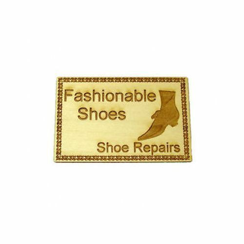 Dollhouse Handcrafted Wood Shoe Store and Repairs Sign Miniatures for Doll House