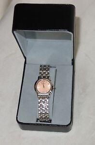 Roven-Dino-Azza-Ladies-ORANGE-Dial-Stainless-Steel-Swiss-Quartz-Watch-NEW