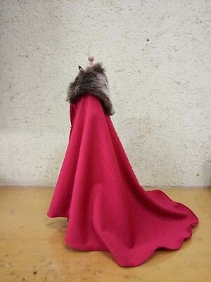 """1//6 Scale Brown Cape Model FOR 12/"""" Female/&Male Body Doll TOYS"""