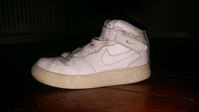 Fritidssko, Nike air force 1, str. 37,5,  Hvid,  Sko,  God…