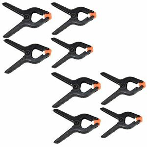 """8pc 2-1//2/"""" Micro Plastic Clamp Nylon Spring Clamps Grips Clips Market Stall"""