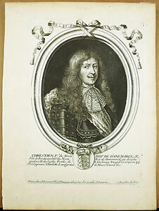 Christian-V-King-Denmark-amp-Norway-c1680-Engraving-Xviie