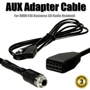 35mm Aux Cable Adaptor For Bmw E46 Business Cd Radio Headunit