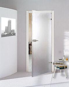 Glastür Drehtür WC Bad Glas Zimmer Tür satiniert matt 584 x 1972 ...