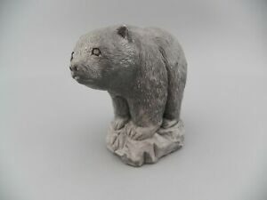 Mt. St. Helens Sculptures Hand Crafted Volcanic Ash BEAR Evergreen Trading Co.
