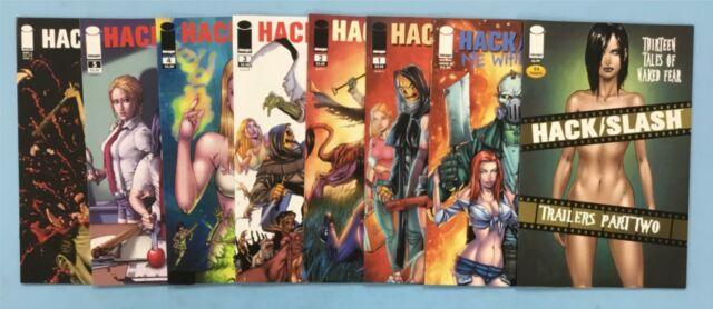 8x HACK SLASH comic # 1 2 3 4 5 6 ONE-SHOT TRAILERS PART TWO ~ 2010 2011 ~ A & B