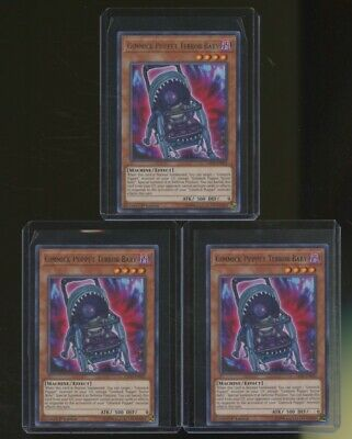 Rare 1st Edition Yu-Gi-Oh LED5-EN035 M//NM x3 Gimmick Puppet Terror Baby
