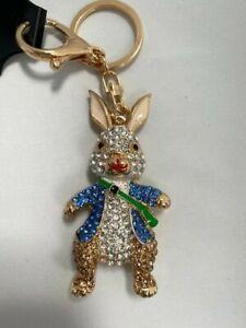 Cute Ape diamante Keyring Black Rhinestone handbag Charm Bling monkey NEW gift
