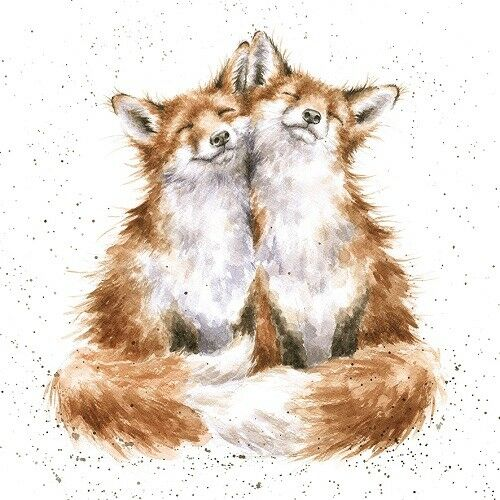 Wrendale Designs Greeting Card Foxes Contentment