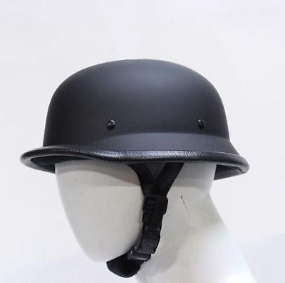 German Novelty Flat Black Motorcycle Half Helmet Spikes Harley S,M,L,XL,XXL,2XL