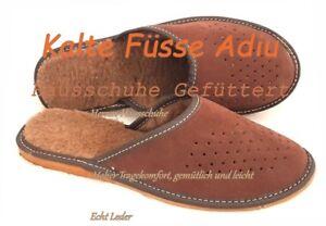 Herren Hausschuhe ,Gefüttert Pantoffeln, Latschen,Sandaletten , Leder,neu