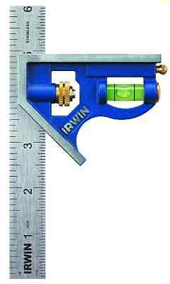 Combination Square IRWIN Tool Metal Body Carpentry Squares Measuring Layout Tool