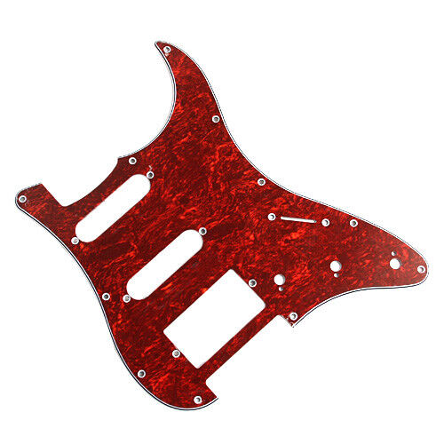 1 HSS Red Tortoise 3 Ply Pickguard For Electric Guitar Fender Stratocaster Strat