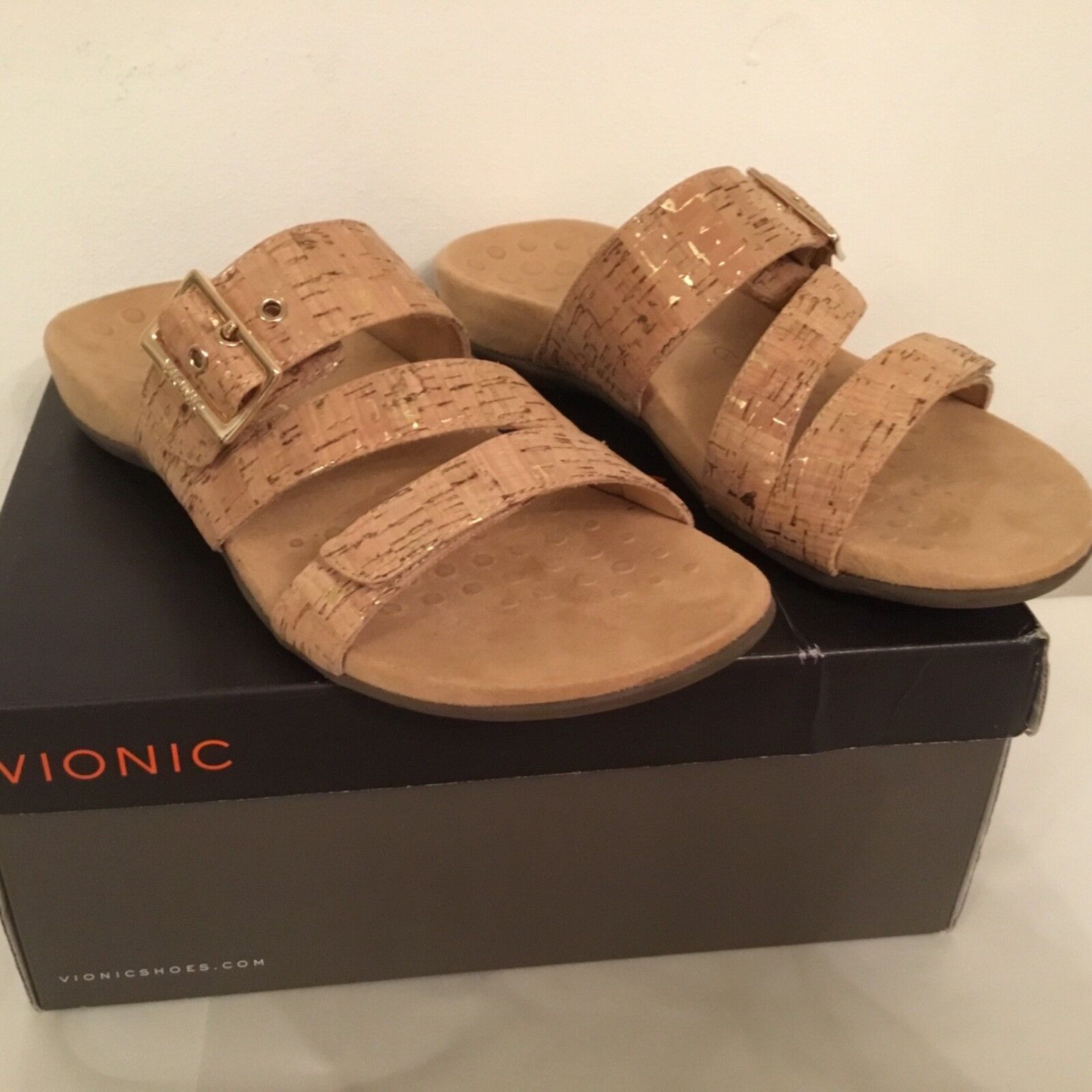 Vionic Orthotic Skylar Buckle Trim Adjustable Sandale w/ FMT Technology