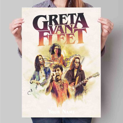 "18x24/"" 24x36/"" Greta Van Fleet New Hot Poster Home Wall Decor 19x12/"""
