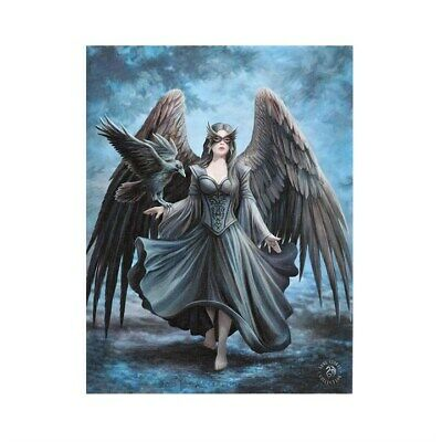 RAVEN ANNE STOKES SMALL CANVAS PICTURE ART GOTHIC HORROR FANTASY ANGEL WINGS