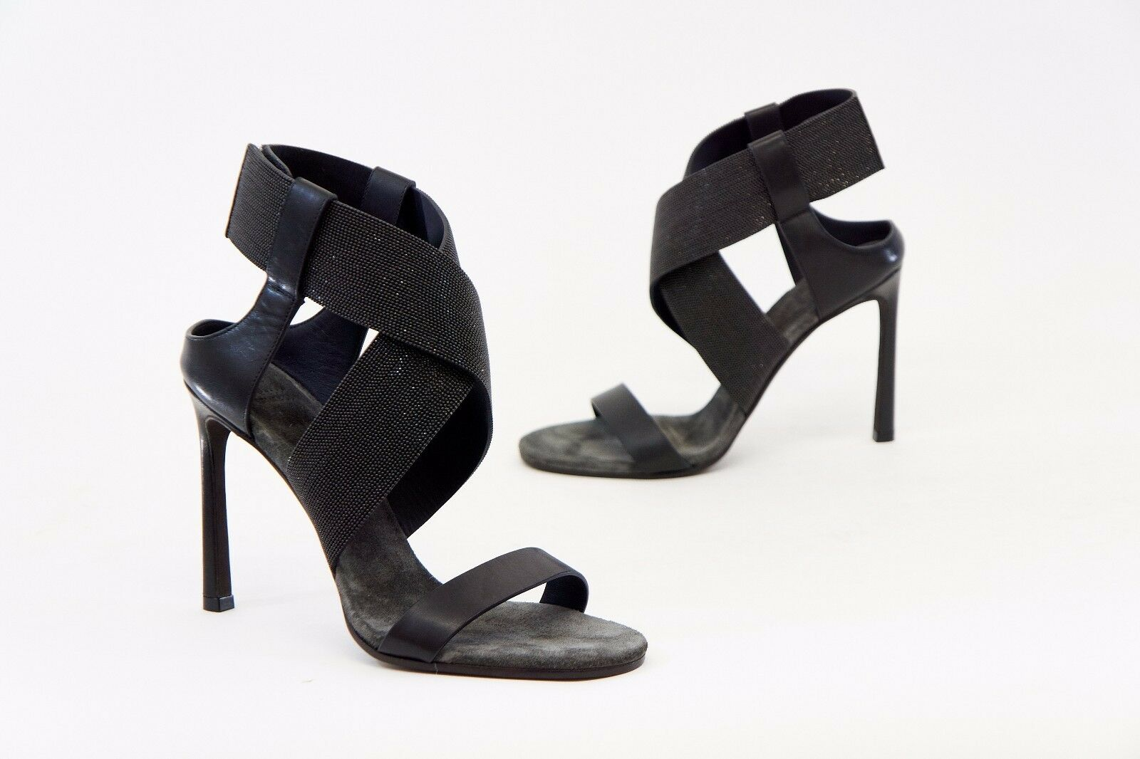 Nwob  1995 BRUNELLO CUCINELLI CUCINELLI CUCINELLI mayor parte Correa de Cuero 100% 37 7 A176 con cuentas Zapatos  nueva marca