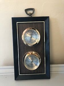 Springfield-Crestwood-Weather-Station-Thermometer-Barometer-Humid-Vintage
