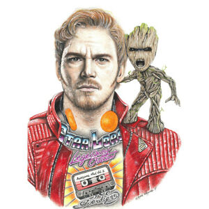 Wayne-Maguire-Tattooed-Star-Lord-Groot-Inked-Ikon-Poster-Print