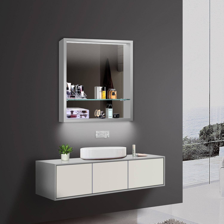 Aluminium LED Beleuchtung Kalt Wam weiß licht Badezimmer spiegel schrank regal