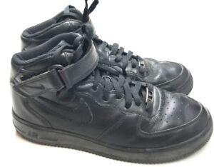 best loved c3a2e 49054 Nike Men's 9.5 43 All Black Air Force 1 Ones AF-1 07 Mid ...