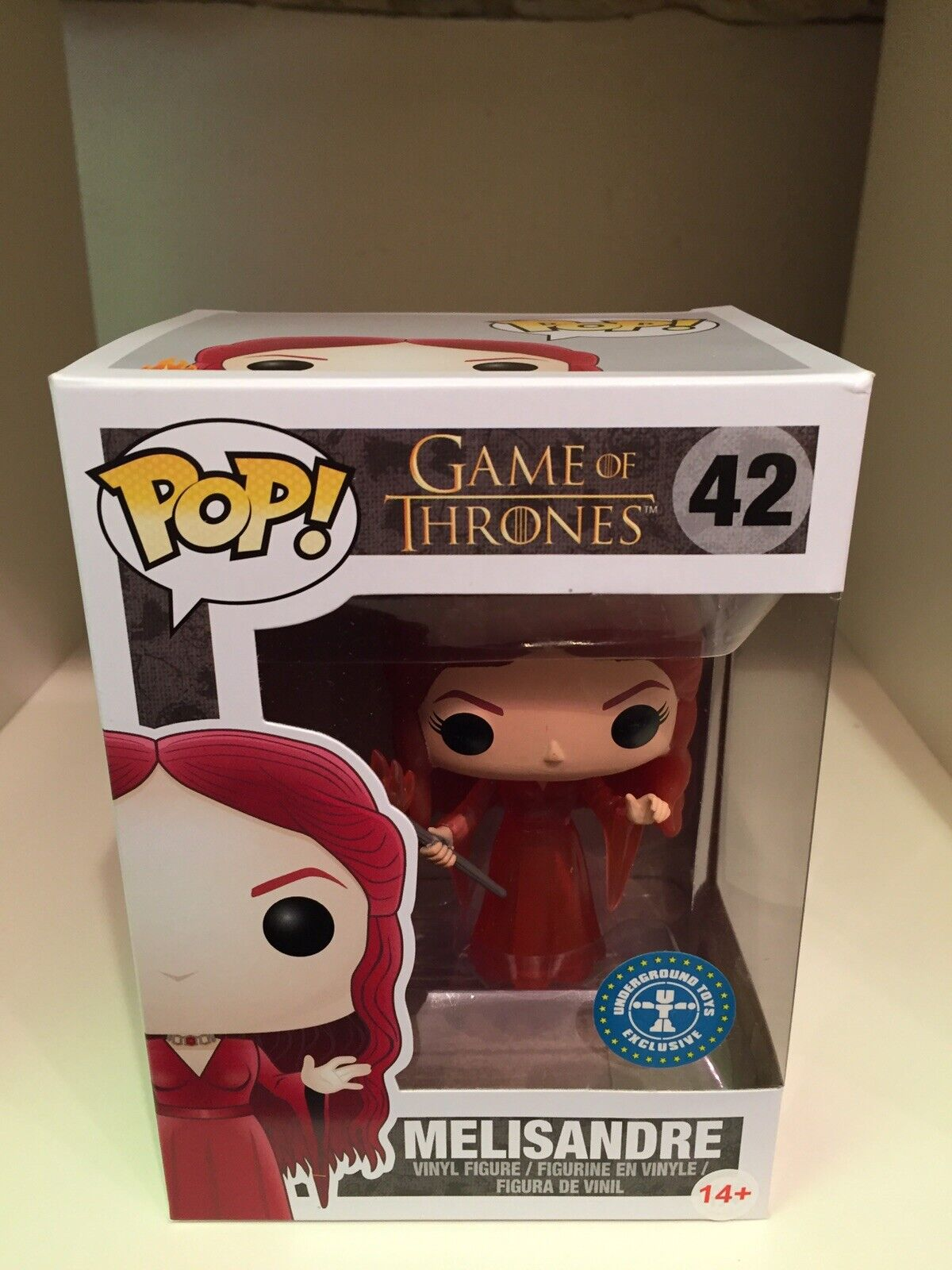 Melisandre translucide Limited Exclusive FUNKO POP Game of Thrones  42 rouge Lady