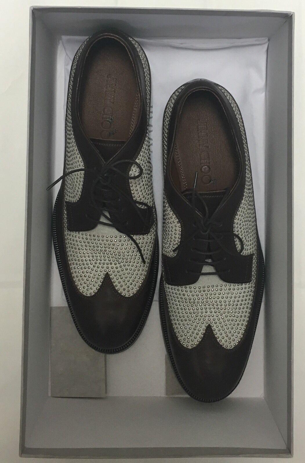 NIB Jimmy Choo Marronee Morland ha studiato Lace Up Leather  Oxfords scarpe Sz 41.5 EU  acquista online