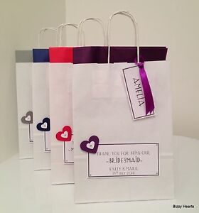 Personalised Wedding Paper Gift Bags : Home, Furniture & DIY > Wedding Supplies > Wedding Favours