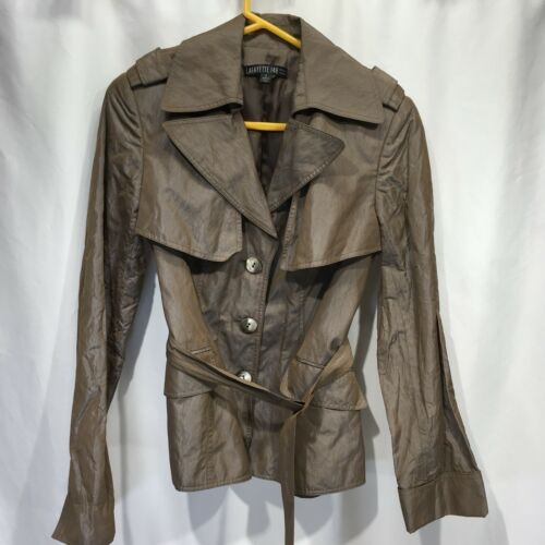 Leather Lafayette Kvinders Jacket Vegan Sz Lightweight 2 Trench 148 Coat Belted BwBFrnq8p