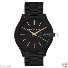 Michael Kors Original MK3221 Women's Skim Runaway Stainless Steel Black Watch