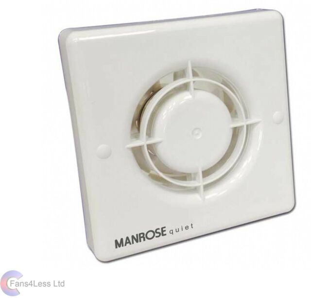 Interruptor de cuerda de 10 cm Extractor para ba/ño Manrose XF100P