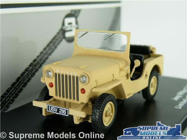 WILLYS JEEP MODEL CAR 1 43 MILITARY ARMY TRIPLE 9 SAND OPEN TOP T9-43039 K8
