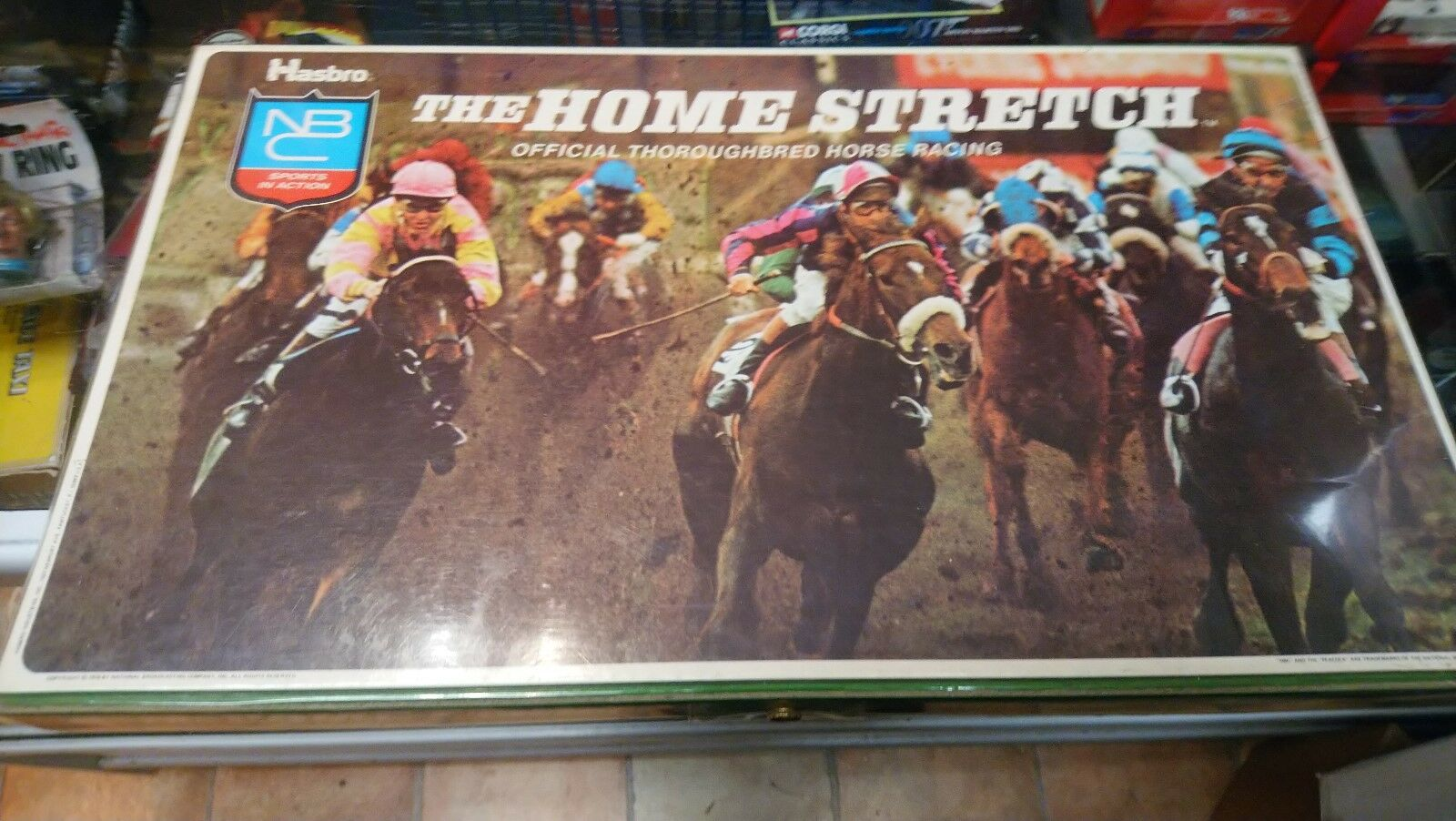 HASBRO THE HOME STRETCH HORSE RACING GAME.  BOARD GAME . FROM 1975