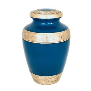 Well Lived® Blue Enameled Adult Cremation Urn for human ashes