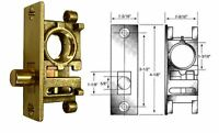 Ll03 Bottom Rail Lock For Store Front Herculite Glass Doors, 1-9/16 Rnd Bolt