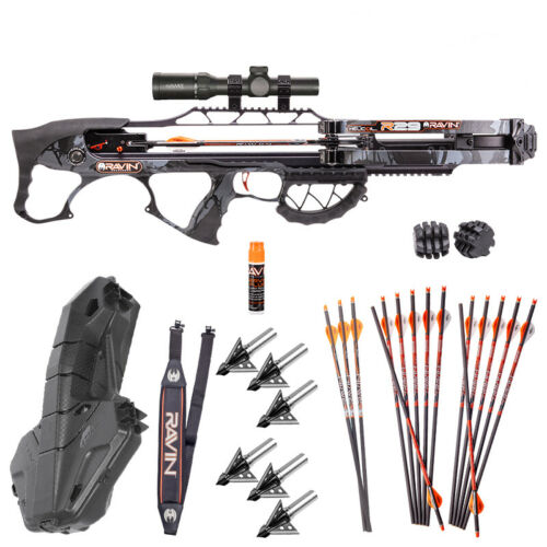 Ravin R29 Crossbow PLatinum Package  6 Ultimate Steel Crossbow Broadheads /& More