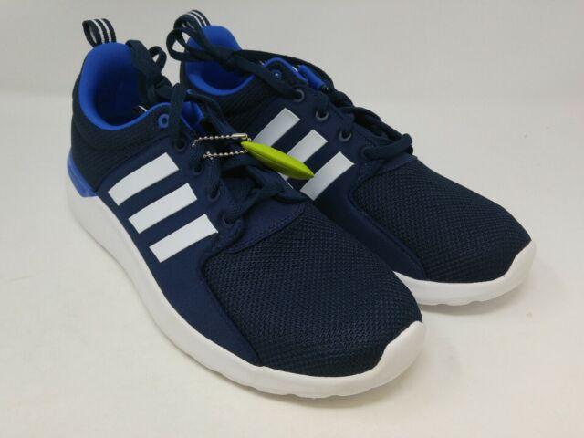 Adidas Men's Navy/White/Blue Cloudfoam Lite Racer Running Shoes Size 9.5 US