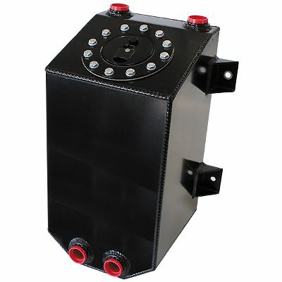 AEROFLOW Aluminium 3 Gallon (11.35L) Fuel Cell with Cavity / Sump Black